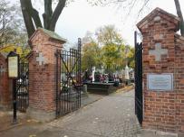 Brama cmentarna, ul Szopena, Sokołów Podlaski